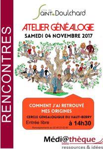 Atelier Généalogie la médiathèque de Saint-Doulchard!