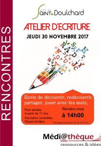 Atelier d'écriture la médiathèque de Saint-Doulchard!