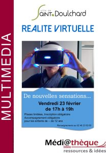 Réalité virtuelle la médiathèque de Saint-Doulchard!