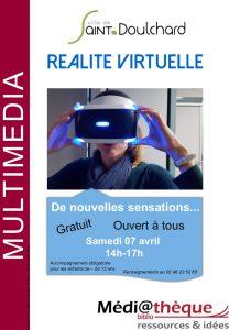 Réalité virtuelle la médiathèque de Saint-Doulchard !