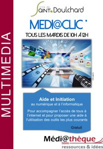 Médi@clic': Permanences numériques la médiathèque de Saint-Doulchard!
