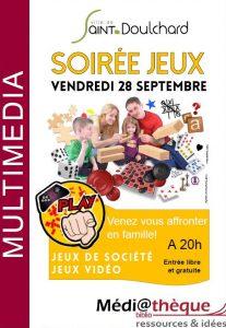 Soirée jeux la médiathèque de Saint-Doulchard !