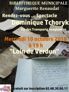 Rendez-vous spectacle avec Dominique Tchoryk