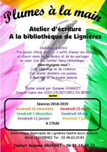 Plumes la main atelier d'écriture Lignières
