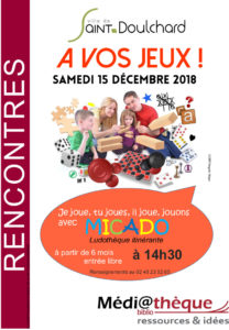 Je joue, tu joues, il joue, jouons avec Micado la médiathèque de Saint-Doulchard !