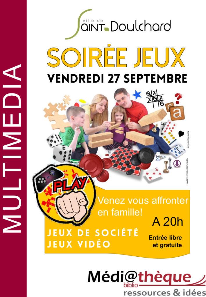 Soirée jeux la médiathèque de Saint-Doulchard!