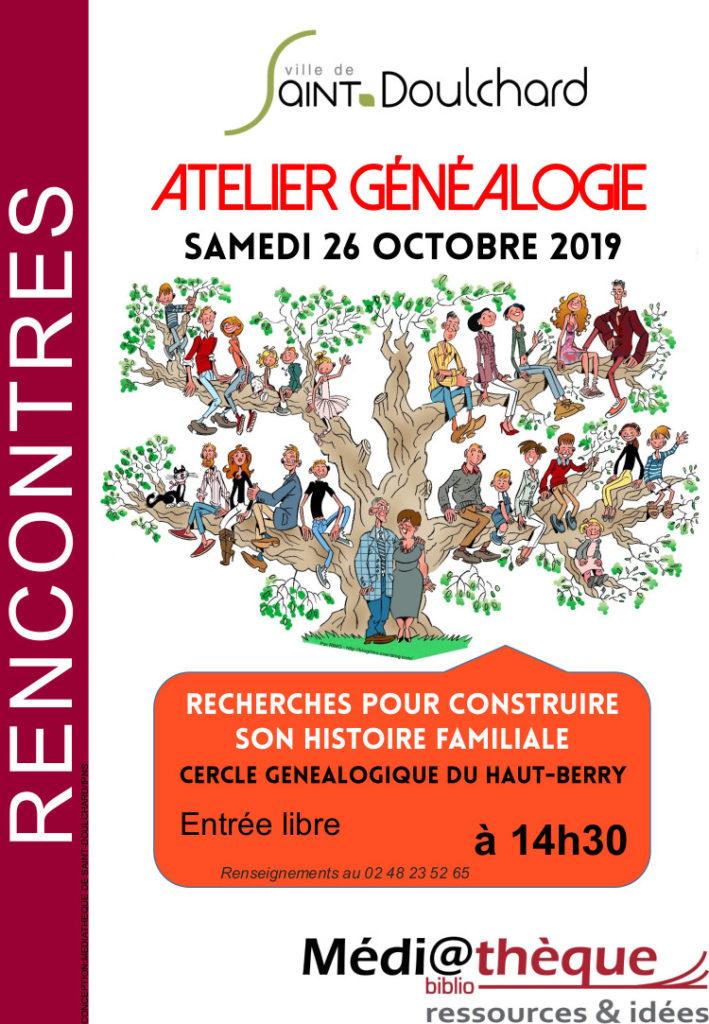Atelier généalogie la médiathèque de Saint-Doulchard !