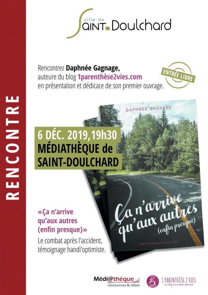 Rencontre avec Daphnée Gagnage la médiathèque de Saint-Doulchard !
