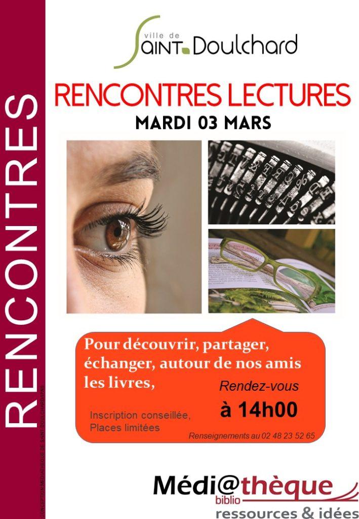 Rencontres Lectures la médiathèque de Saint-Doulchard !